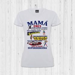 CAMISETA MAMÁ SUPERHEROÍNA