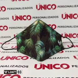 Mascarilla Diseño Tropical