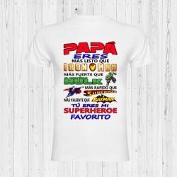 CAMISETA PAPÁ SUPERHÉROE